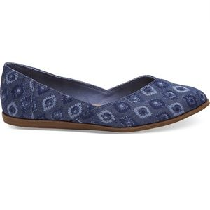 Toms Shoes - TOMS Jutti Flats in Blue Washed Denim